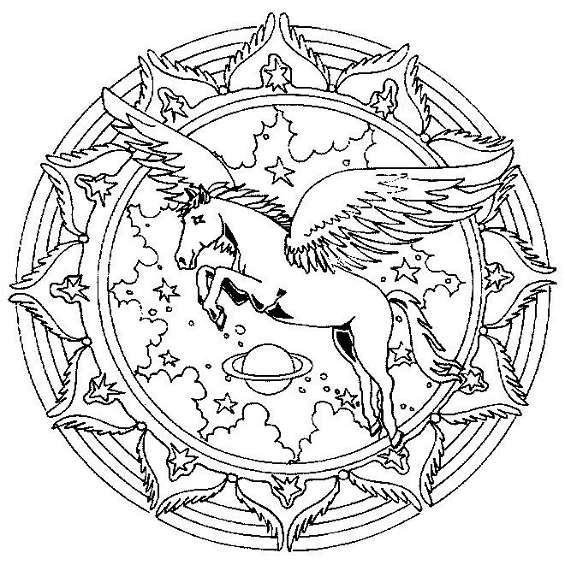 mandala de unicornio