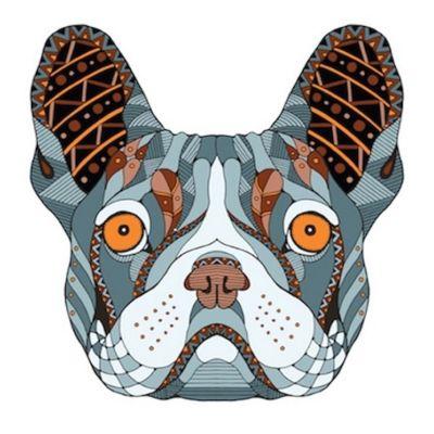 mandalas de perros a color