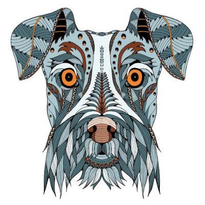 mandalas de perros coloreados