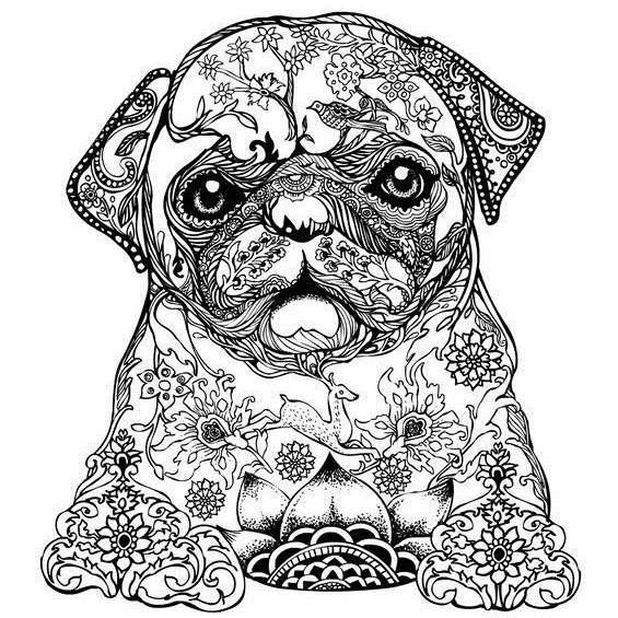 mandalas de perros para colorear faciles