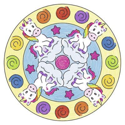 mandalas de unicornios a color
