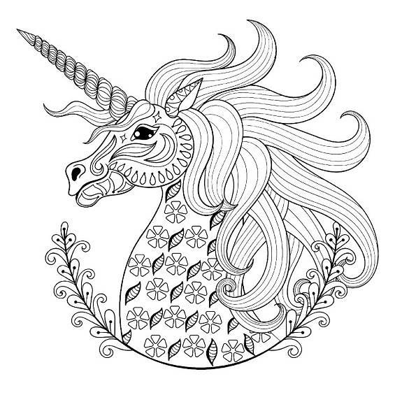 mandalas de unicornios faciles para imprimir