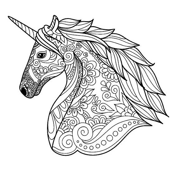 mandalas de unicornios faciles para pintar