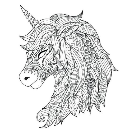 mandalas de unicornios para pintar