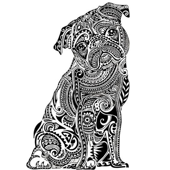 perro mandala para colorear e imprimir