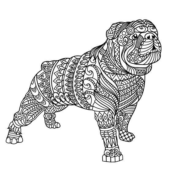 perro mandala para imprimir
