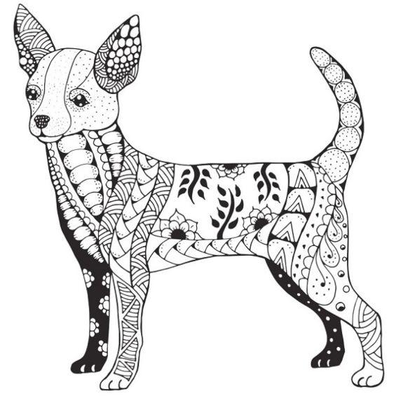 perro mandala para pintar