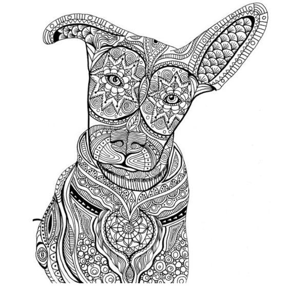 perros mandala para pintar