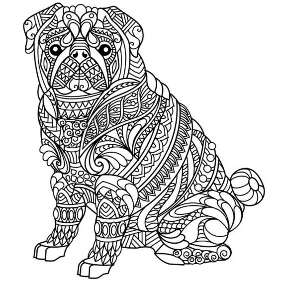 perros mandalas para colorear e imprimir