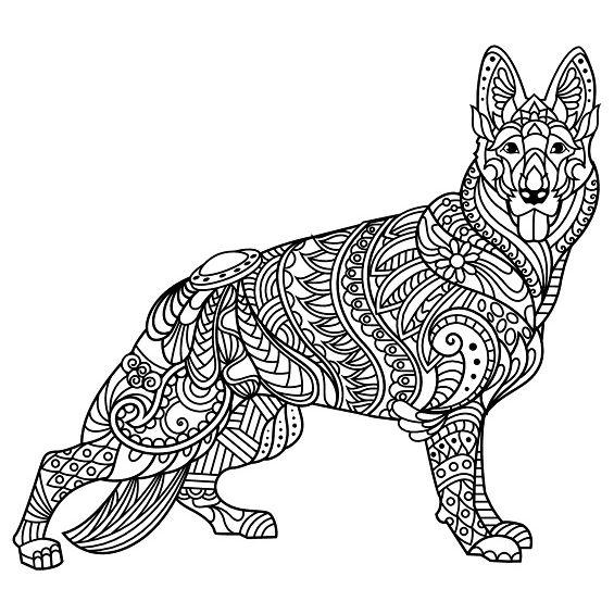 perros mandalas para imprimir