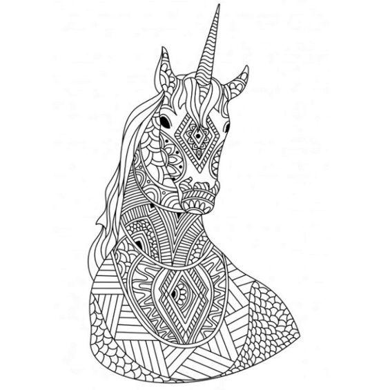 un unicornio mandala