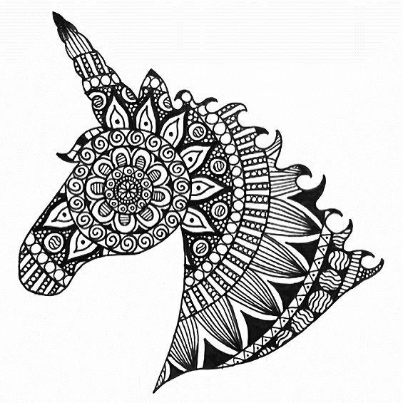 un unicornio para pintar
