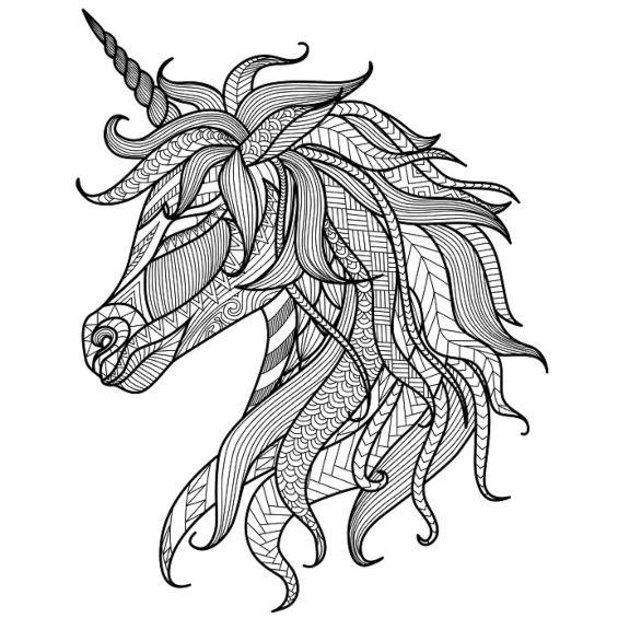 unicornio mandala para colorear e imprimir