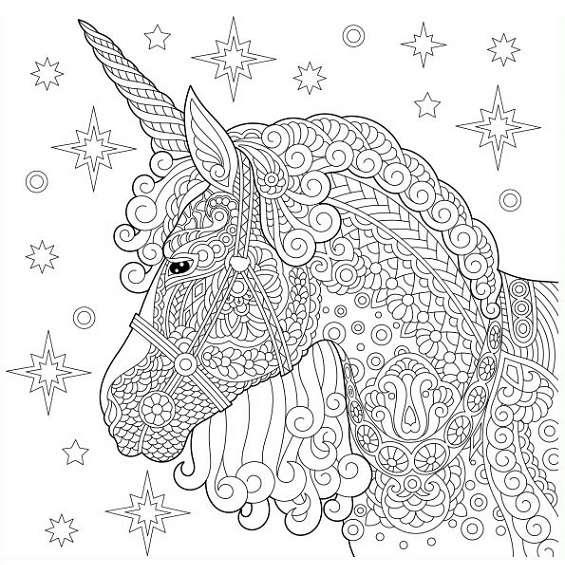 unicornios mandalas para imprimir