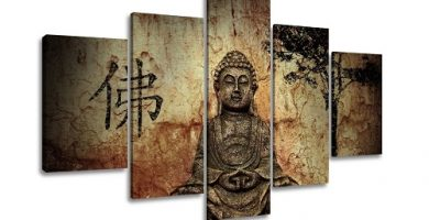 Los cuadros de Buda son una opción perfecta para darle un cambio total a la decoración de tu salón o dormitorio