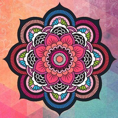 Mandalas de flores coloridos