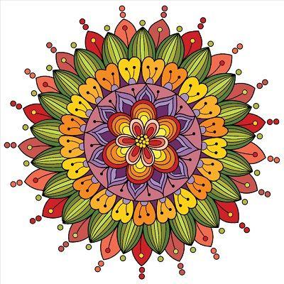 Mandalas de flores pintadas