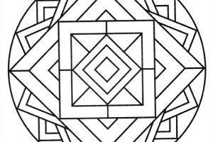 Mandalas flor de loto para colorear