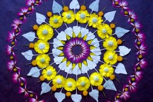 Mandalas con flores