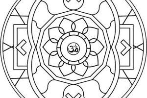 Mandalas tibetanos para colorear