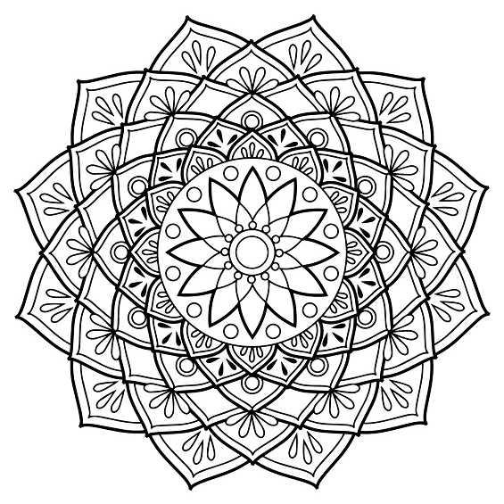 flor mandala para colorear e imprimir