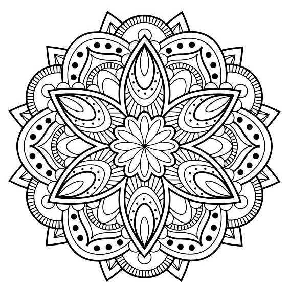 flor mandala para imprimir