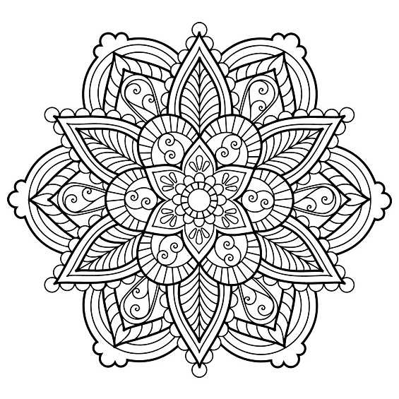 flor mandala para pintar