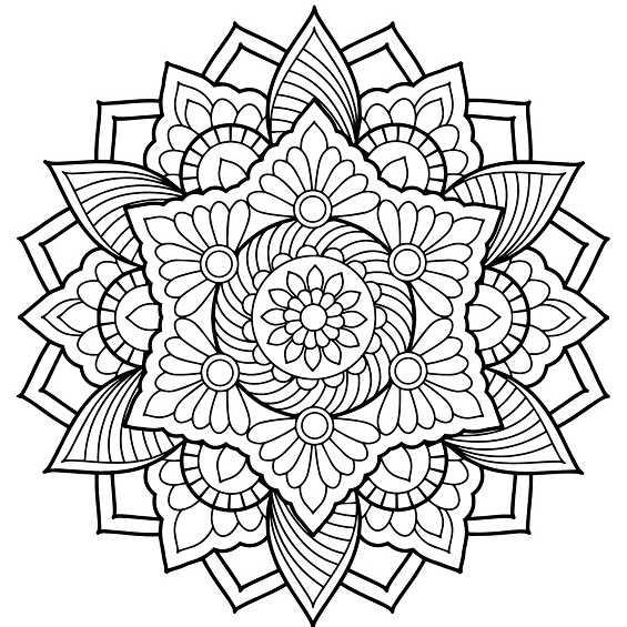 flores mandalas para colorear