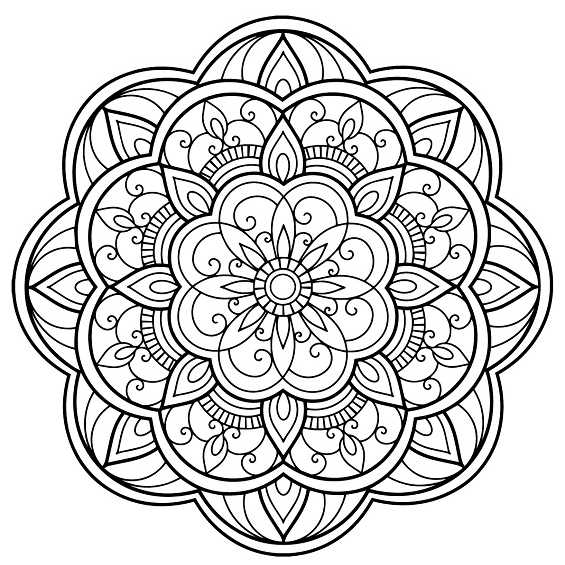 flores mandalas para pintar