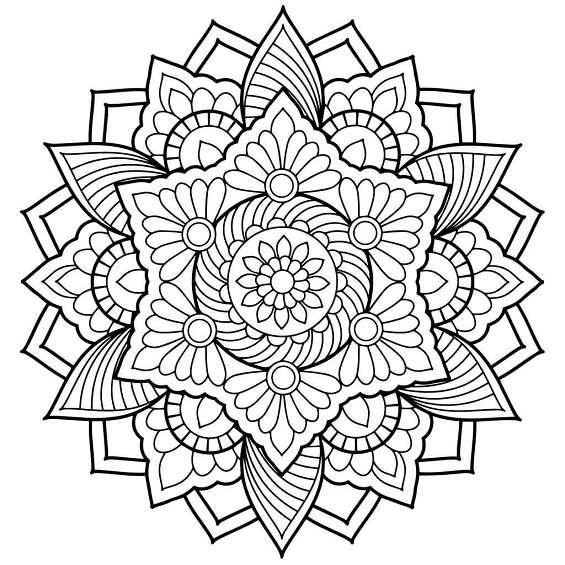 mándala de flor para colorear