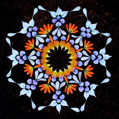 mándalas con flores pintadas