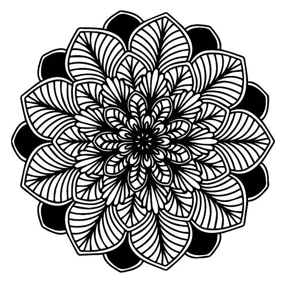 mándalas de flores para colorear