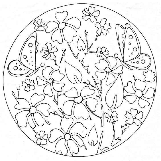 mándalas de flores para imprimir