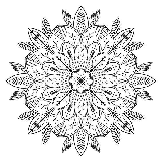 mándalas de flores para pintar