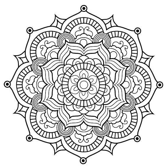 mandala con flores para colorear