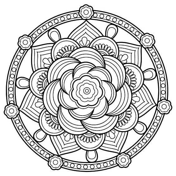mandala con flores para pintar