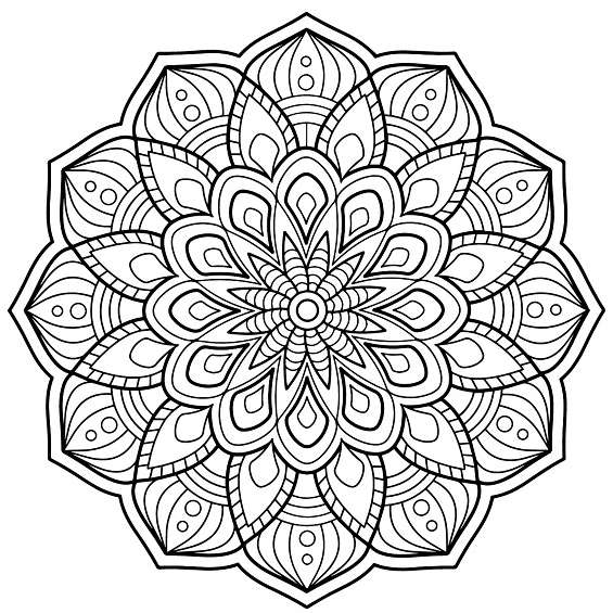 mandala de flor para colorear