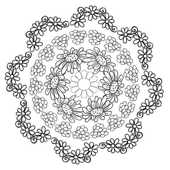 mandala de flor para imprimir