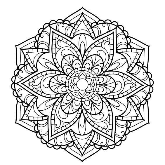 mandalas de flores para colorear