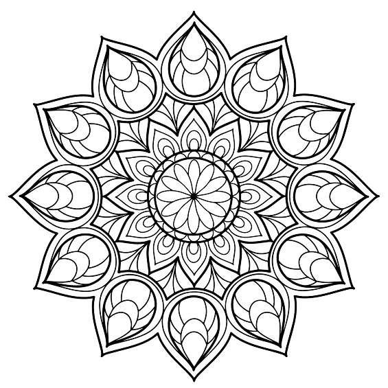 mandalas de flores para imprimir