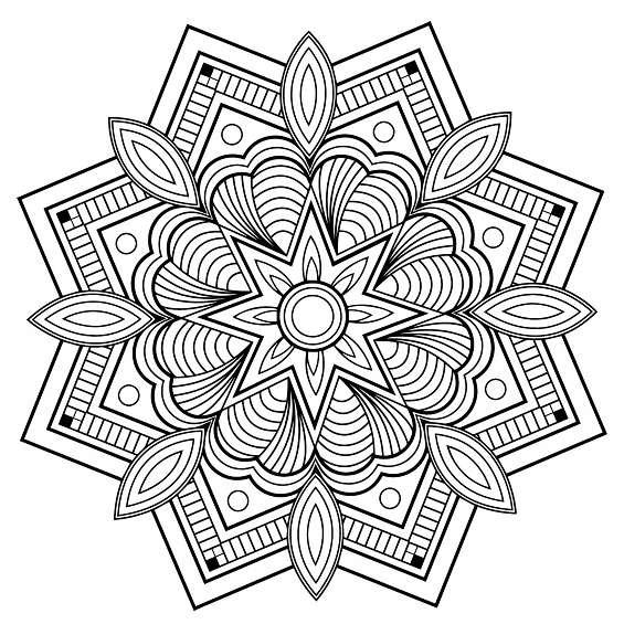 mandalas de flores para pintar