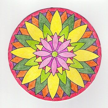 mandalas fáciles coloreadas