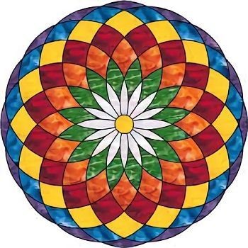 mandalas faciles coloreadas