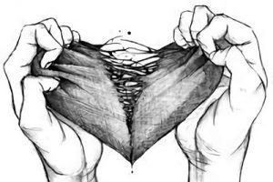 Dibujos de corazones a lapiz faciles