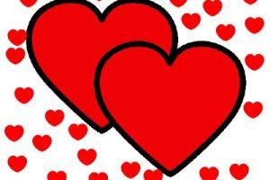 Dibujos de corazones en color