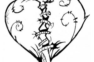 Dibujo de un corazon roto