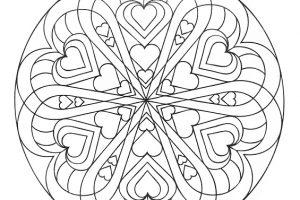 Mandalas con corazones