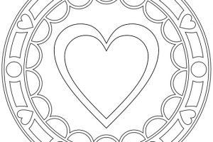 Mandalas de corazones faciles