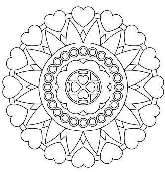 Mandalas y dibujos de corazones