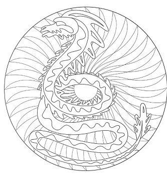 Mandalas y dibujos de dragones